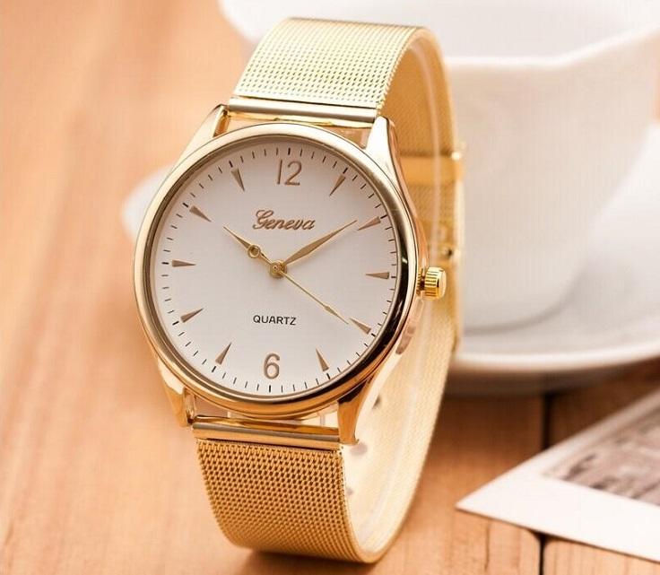 часы женские Женева золотые
