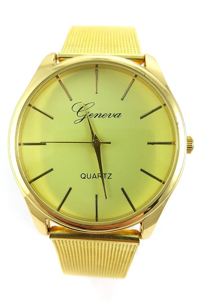 9c32136b Часы Geneva золотые, металлический ремешок купить