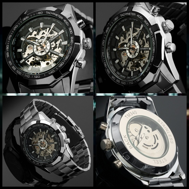 2d0e7f7d Часы скелетоны Winner механика купить